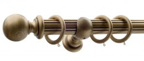 50mm Monarch Countess Bronze Complete Curtain Pole Set 240CM