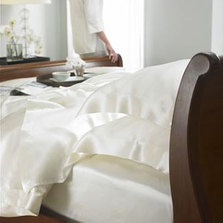 Gingerlily 100% Silk Ivory Flat Sheet  - Double 230 x 275CM