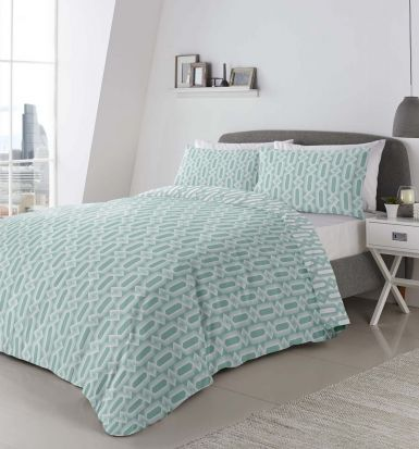 Appletree Jax Mint Duvet Cover Set - Double