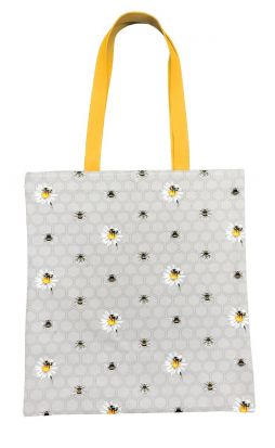 Bee Happy Canvas Tote Bag
