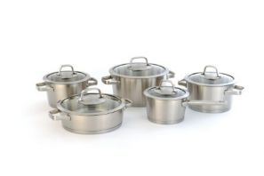 Berghoff Manhattan 5 Piece Saucepan Set