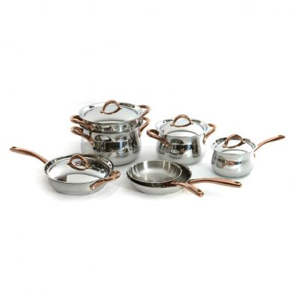 BergHOFF Ouro Studio 11-Piece Cookware Set with Copper Handles