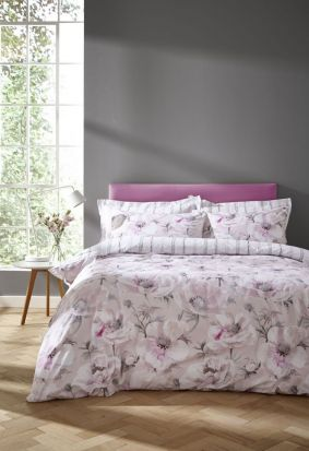 Bianca Arctic Poppy Blush Duvet Cover Set - Superking