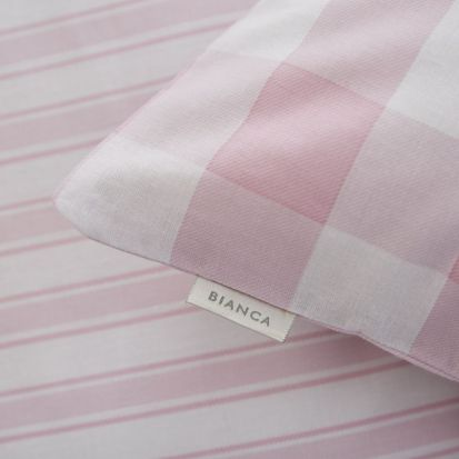 Bianca Check and Stripe Pink Fitted Sheet - Double