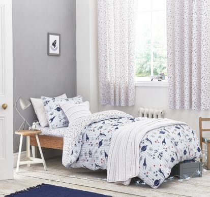 Bianca Cotton Soft Space Duvet Cover Set Toddler Bed