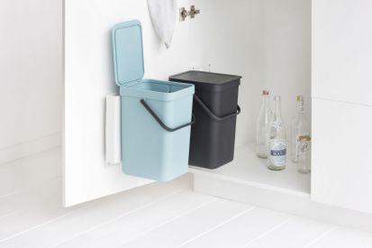 Brabantia Sort & Go Waste Bin 12-Litre Mint