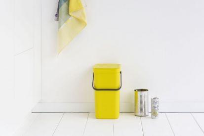 Brabantia Sort & Go Waste Bin 12-Litre Yellow