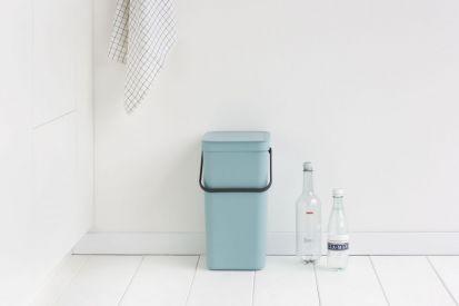 Brabantia Sort & Go Waste Bin 16-Litre Mint Main