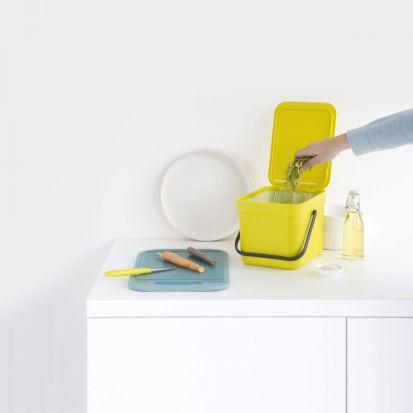 Brabantia Sort & Go Waste Bin 6-Litre Yellow