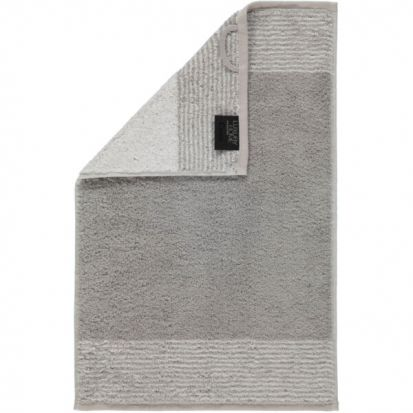 Cawo Two-Tone Platinum Guest Towel