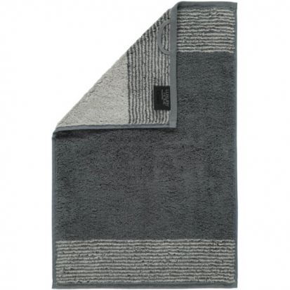 Cawo Two-Tone Slate Guest Towel