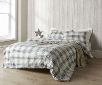Christy Thurloe Check Duvet Cover Set Blue - Superking