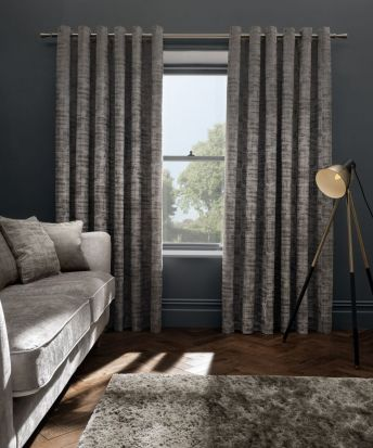Clarke & Clarke Naples Taupe Curtains - 66