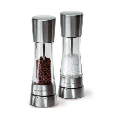 Cole & Mason Derwent Stainless Steel Salt & Pepper Mill Gift Set