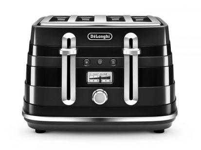 Delonghi Avvolta 4 Slice Toaster Black