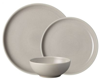 Denby Intro Warm Taupe 12 Piece Box Set