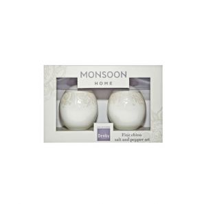 Denby Monsoon Lucille Gold Salt and Pepper Pot Set