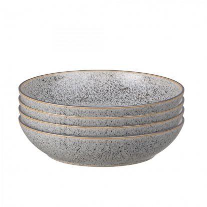 Denby Studio Grey Set of 4 Pasta Bowls