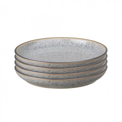 Denby Studio Grey Set of 4 Small Coupe Plates