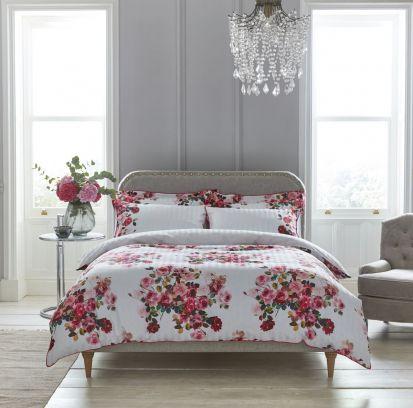 Dorma Roses Pink Standard Pillowcase Pair