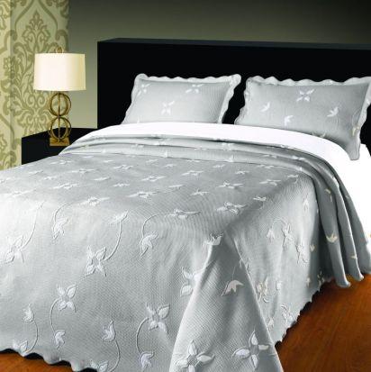 Elainer Julia Bedspread Grey/Silver - Double