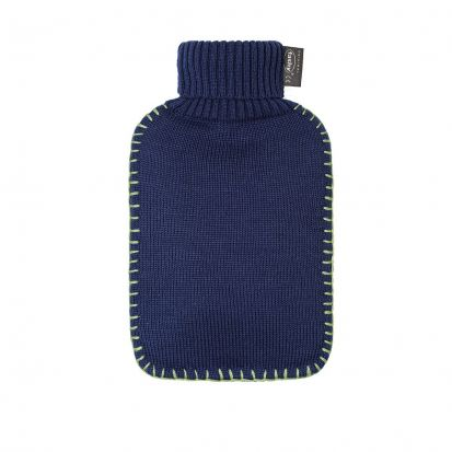 Fashy Hot Water Bottle with Knitted Cover - Sapphire