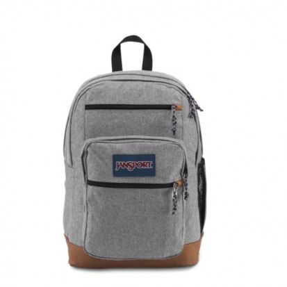 Jansport Cool Student Backpack Grey Letterman Poly