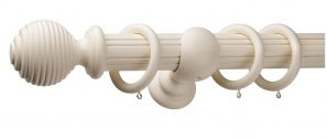 Monarch Earl Cream Complete Curtain Pole Set 200CM
