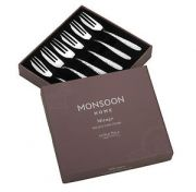 Arthur Price Monsoon Mirage Set of 6 Pastry Forks