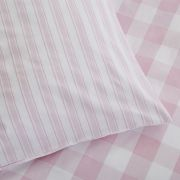 Bianca Check and Stripe Pink Duvet Cover Set - Single 5