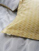 Bianca Cottonsoft Ziggurat Grey Oxford Pillowcase 3