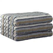 Cawo Lifestyle Stone Stripe - Bath Towel